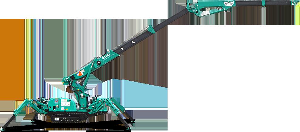 Maeda Mini Cranes : Knuckle boom maeda mini cranes