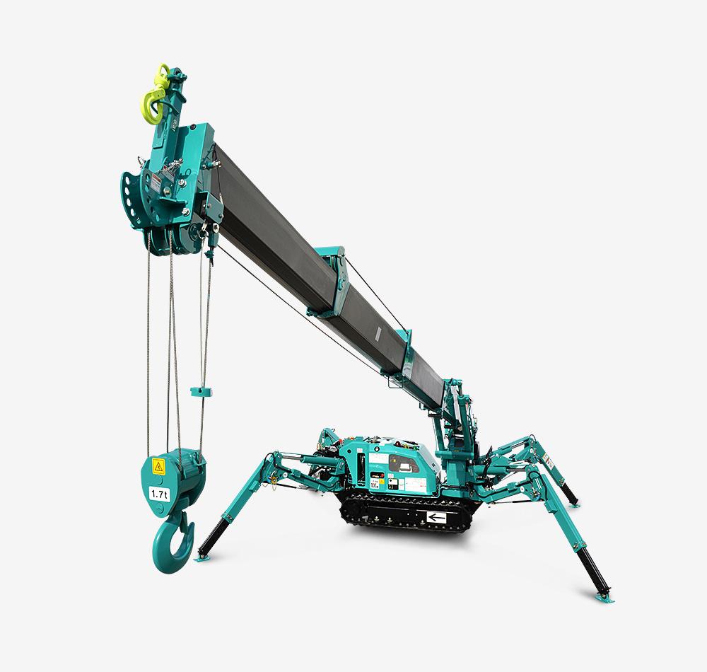 Maeda Mini Cranes : Mc c spider crane maeda mini cranes