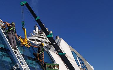 MC285-2 Ship Glazing On Upper Deck Of Cruise Ship US