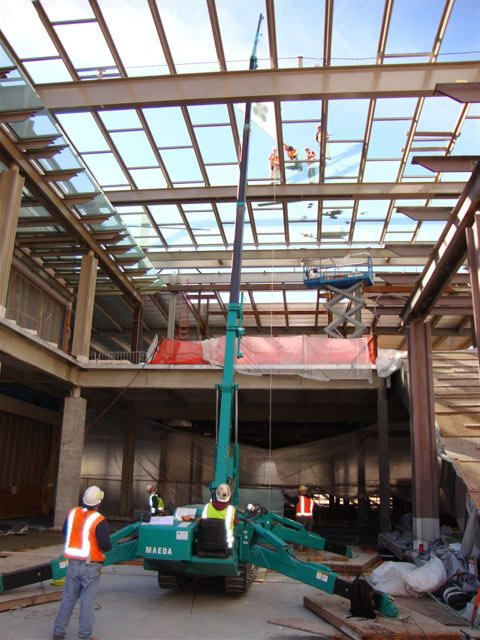 MC405C Construction US Skylight Placement With Jib