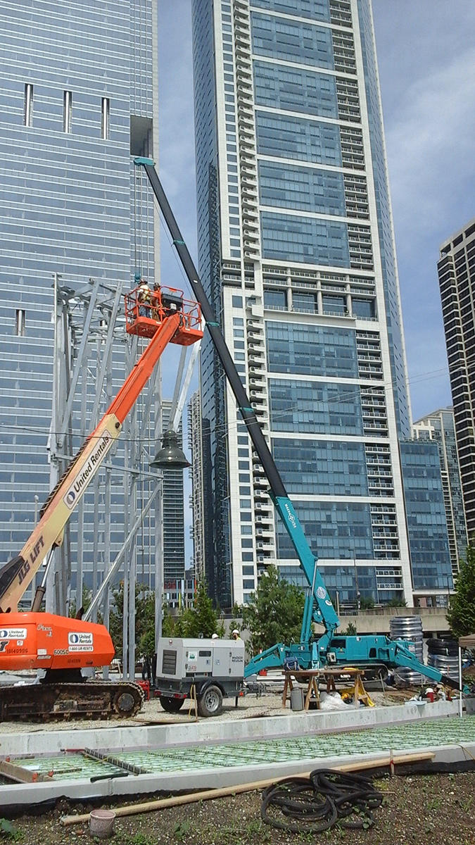 MC405C Rock Wall Install - Maggie Dailey Park in Chicago